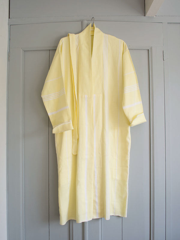 HAMMAM BATHROBE LEMON YELLOW