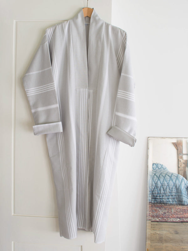 HAMMAM BATHROBE LIGHT GREY