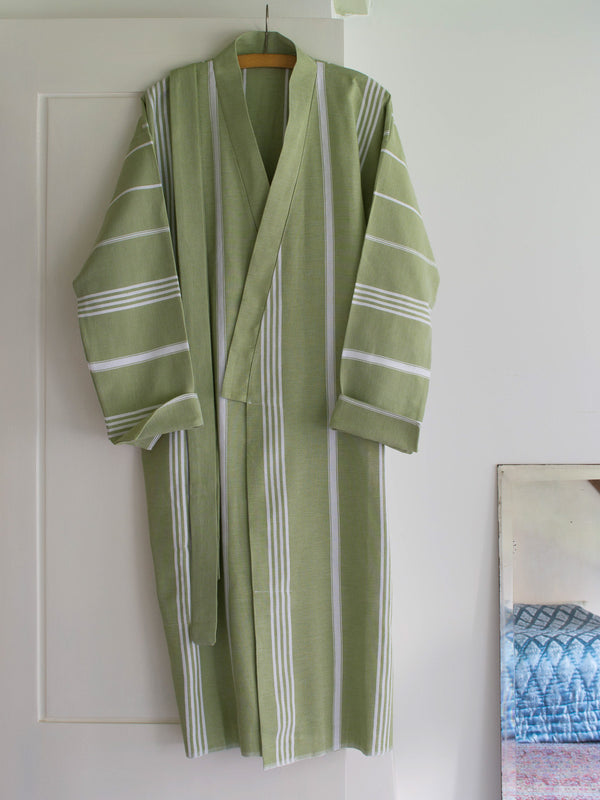 HAMMAM BATHROBE MOSS GREEN
