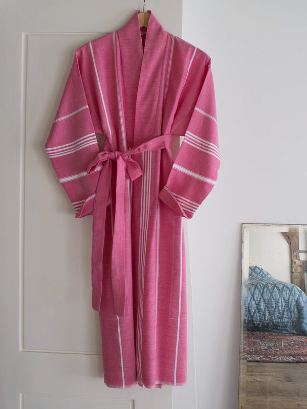 HAMMAM BATHROBE RUBY RED