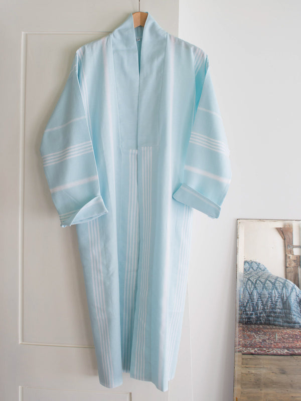 HAMMAM BATHROBE LIGHT TURQUOISE
