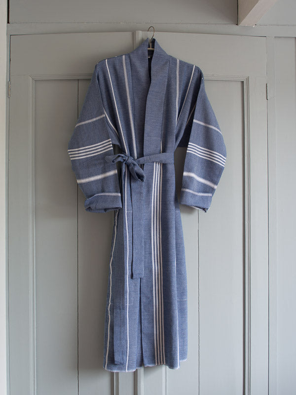HAMMAM BATHROBE NAVY BLUE