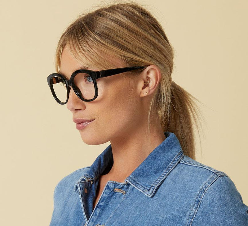 CATALINA BLACK READERS WITH BLUE LIGHT FILTER