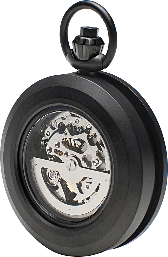 R40 MATTE BLACK POCKET WATCH