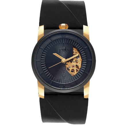 R413 ECLIPSE WRIST WATCH with Black Vachetta Strap
