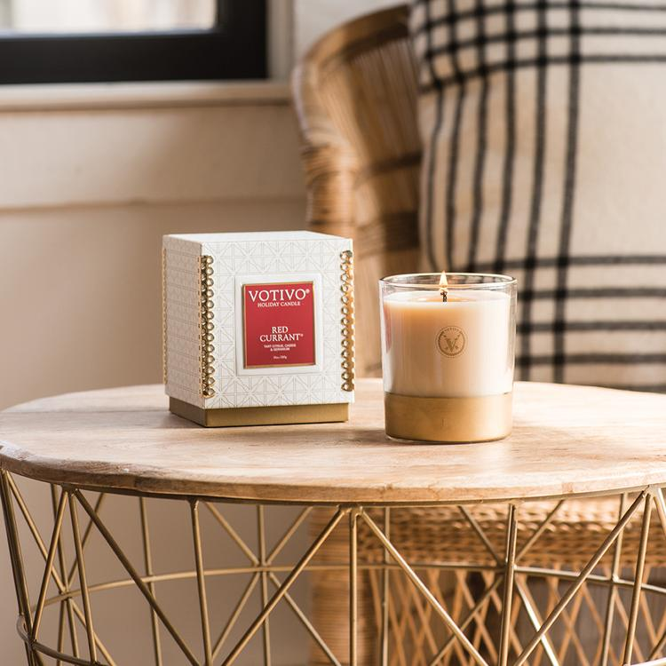 RED CURRANT HOLIDAY CANDLE and VOTIVE