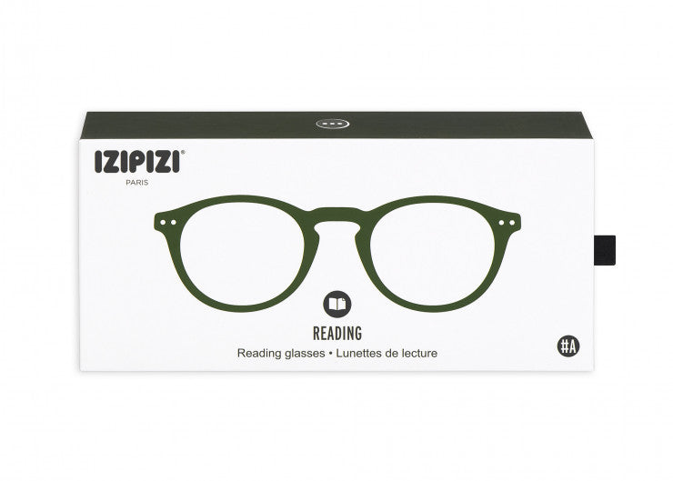 READING GLASSES #A GREEN CRYSTAL