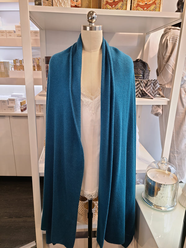 ADELE CASHMERE SHAWL - TEAL