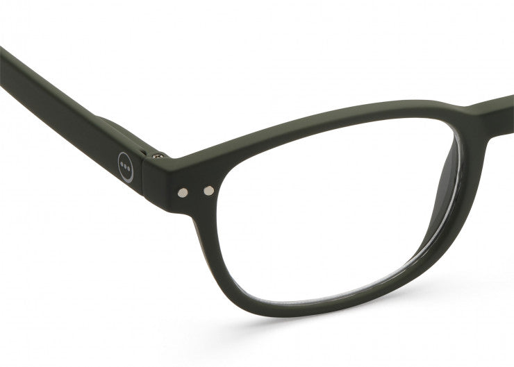 READING GLASSES #B KAKI GREEN