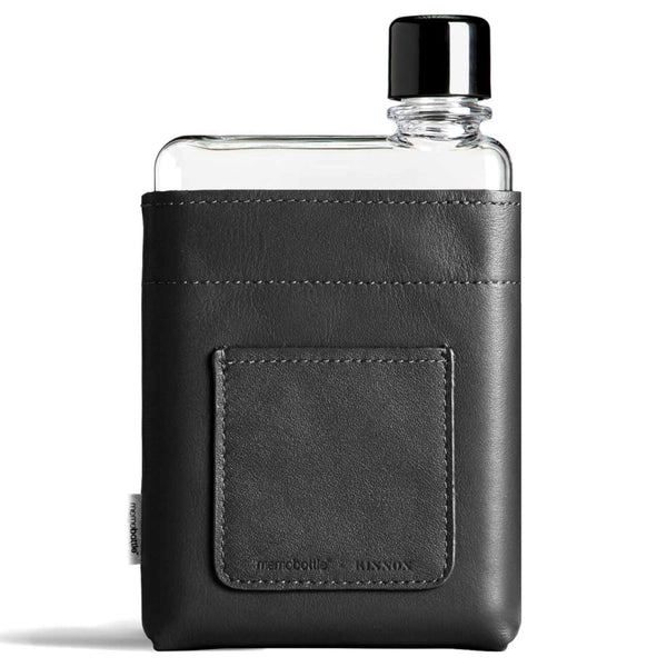 MEMOBOTTLE BLACK LEATHER SLEEVES