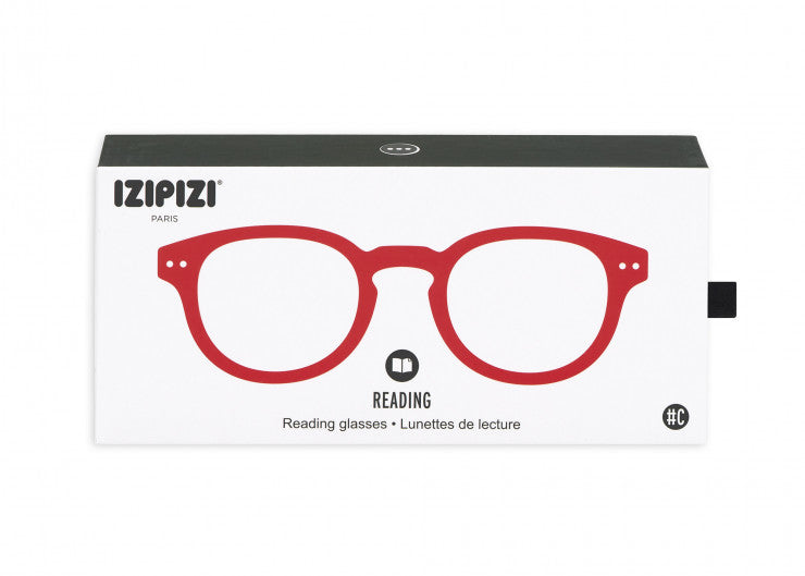 READING GLASSES #C RED CRYSTAL