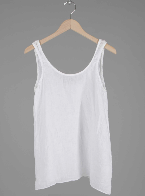 SIA LINEN TANKTOP in WHITE
