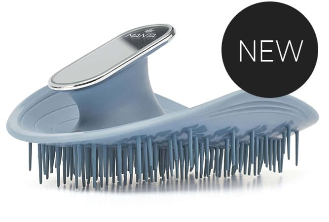 MANTA HAIR BRUSH - BLUE MIRRORED