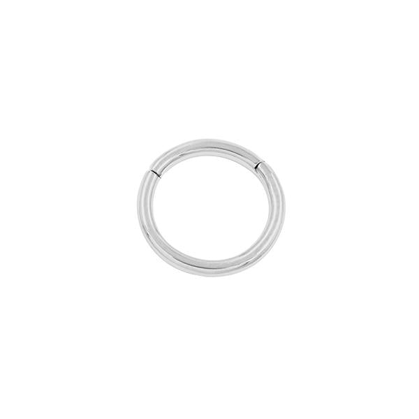 16g 8mm PLAIN RING in White Gold