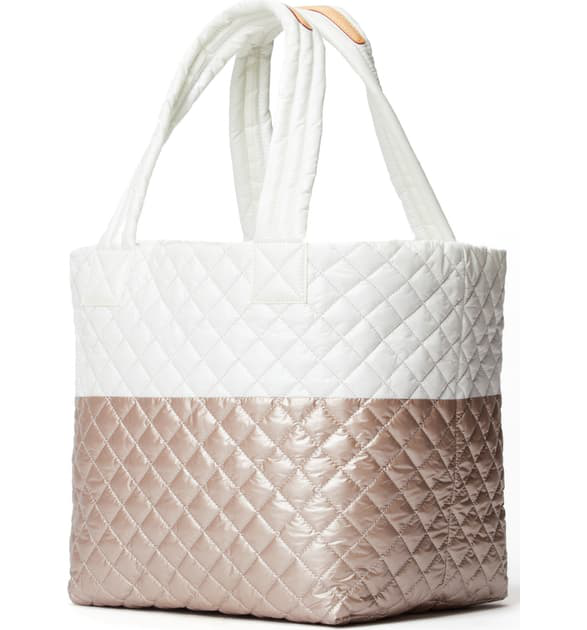 MEDIUM METRO TOTE in Glacier/Rose Gold Metallic Colorblock