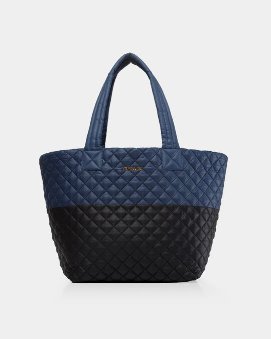 MEDIUM METRO TOTE in Navy/Black Colorblock