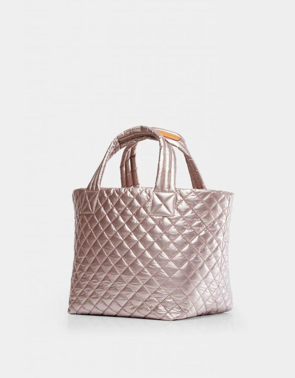 MEDIUM METRO TOTE in Rose Gold Metallic