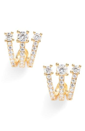 KATHERINE EAR HUGGIES GOLD + WHITE DIAMONDETTES