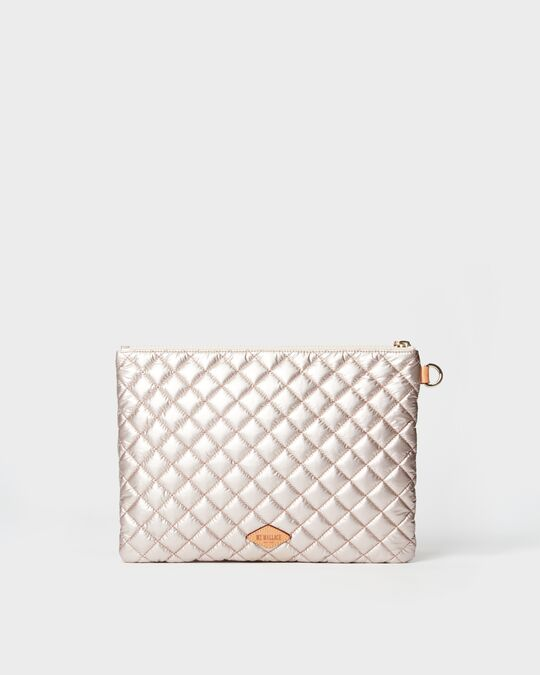 METRO POUCH in Rose Gold Metallic
