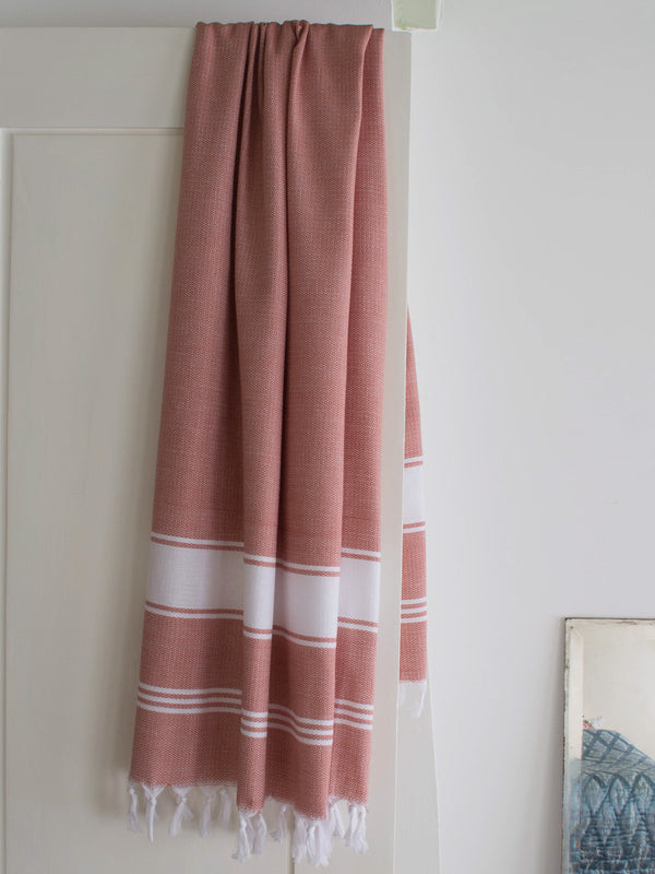 HONEYCOMB TOWEL COPPER/WHITE