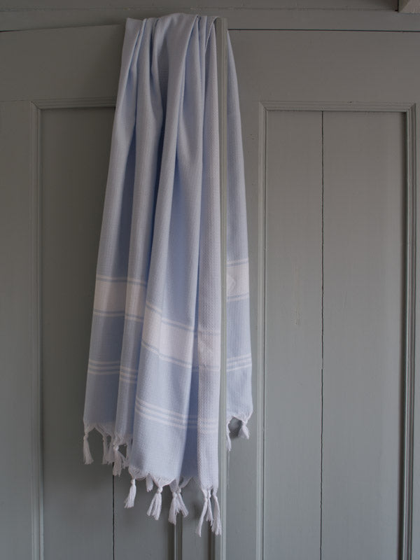 HONEYCOMB TOWEL LIGHT BLUE/WHITE