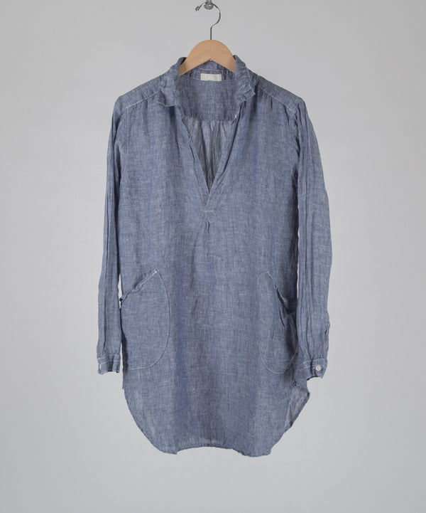 TETON LINEN TUNIC in DENIM