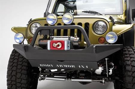 Body Armor Front Bumper With Grill Guard