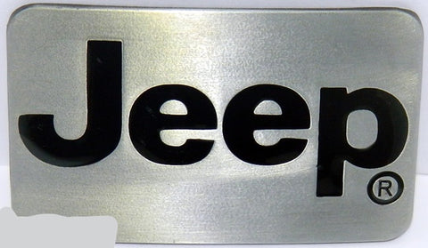 Inked Brushed Silver JEEP Belt Buckle