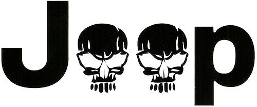 Jeep Zombie Decal Pair