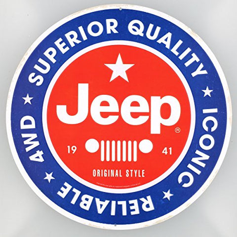 Round Superior Quality Jeep Sign