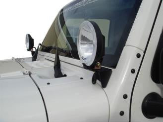 Off Camber Fabrications Windshield Light Bracket