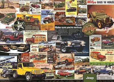 Vintage Jeep Ad Poster