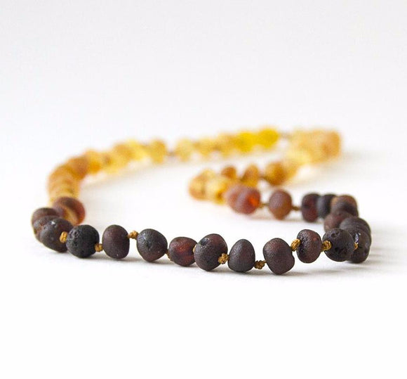Raw Unpolished Baltic Amber Infant to Adult Jewelry-Necklace, Bracelet & Anklet- Light Ombre,7