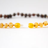"Raw Unpolished Baltic Amber Infant to Adult Jewelry-Necklace, Bracelet & Anklet- Light Ombre,7""-24"""