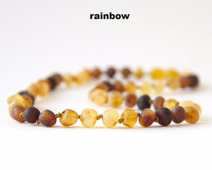 "CHOKERS-Authentic Raw Unpolished Baltic Amber Children/Adult Necklace Jewelry-15""& 16""-many colors"