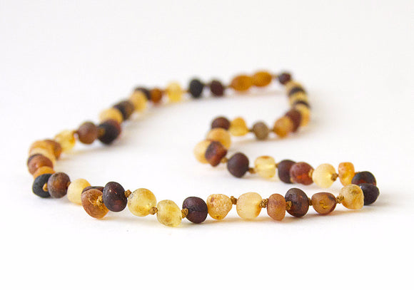 Raw Unpolished Baltic Amber Infant to Adult Jewelry -Necklace, Bracelet & Anklet -MultiColor, 7