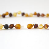"Raw Unpolished Baltic Amber Infant to Adult Jewelry -Necklace, Bracelet & Anklet -MultiColor, 7""-24"""