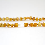 "Raw Unpolished Baltic Amber Infant to Adult Jewelry -Necklace, Bracelet & Anklet -Med Color, 7""-24"""