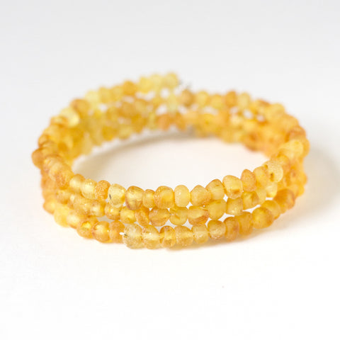 Authentic Raw Unpolished Baltic Amber Children/Adult Jewelry - Bangle Bracelet - Lemonade