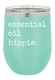 Essential Oil Hippie Wine Tumbler