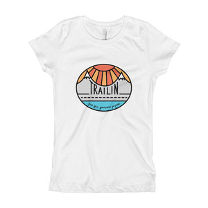 TRAILin - Girl's T-Shirt - color logo