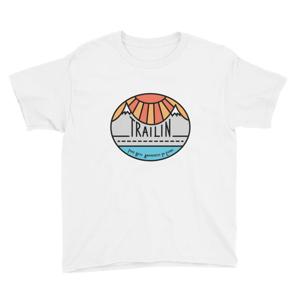 TRAILin - Youth Short Sleeve T-Shirt - color logo