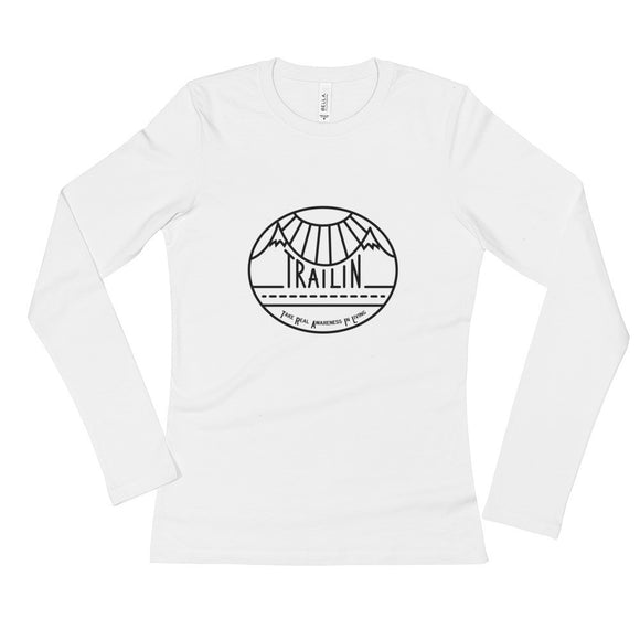TRAILin - Ladies' Long Sleeve T-Shirt - black logo