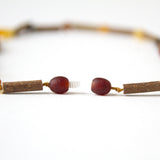 "Hazelwood with Baltic Amber for Infant to Adult Jewelry - Necklace, Bracelet & Anklet -Multi, 7""-24"""