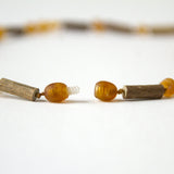 "Hazelwood with Baltic Amber for Infant to Adult Jewelry -Necklace, Bracelet & Anklet -Medium, 7""-24"""