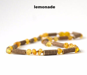 "CHOKERS - Hazelwood with Raw Unpolished Baltic Amber Jewelry, 15"" & 16"" Choker Necklace many colors"