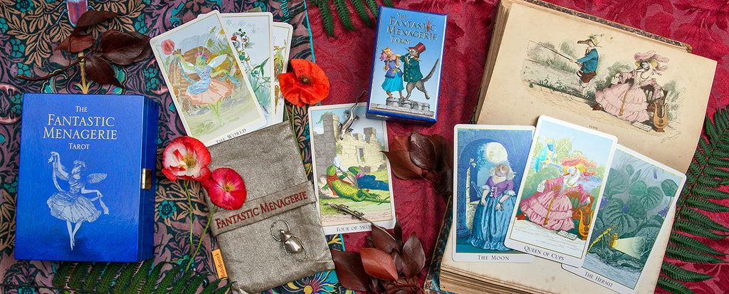 The Fantastic Menagerie Tarot. Baba Studio deck based on JJ Grandville images.