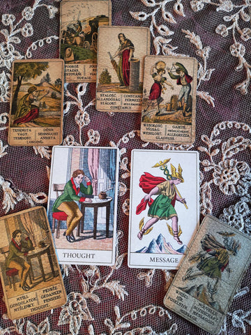 Bohemian Fortune-telling card deck based on an antique deck. By BabaBarock.