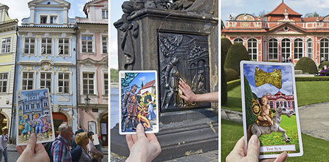 Tarot of Prague cards, Charles Bridge, Loreta chapel