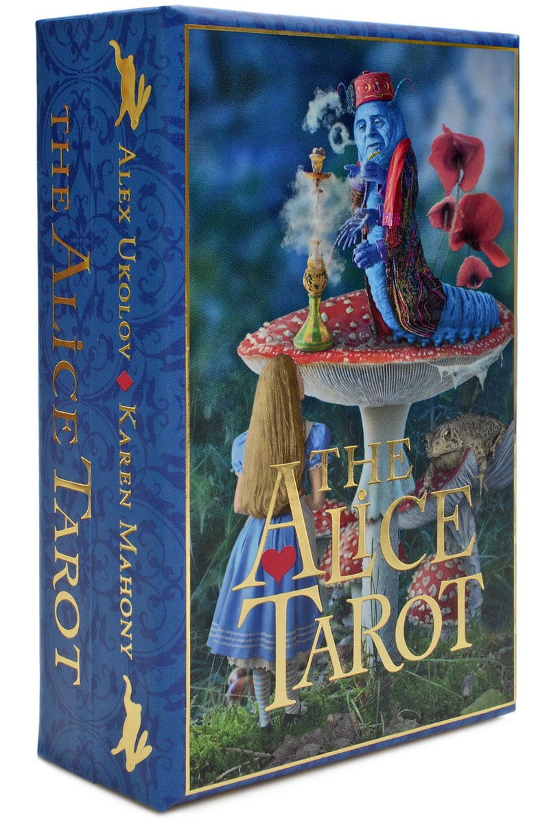 The Alice Tarot deck, Baba Studio Tarot decks, alice and the caterpillar,  , Wonderland tarot cards, red queen, cheshire cat, alice tarot deck, White Rabbit tarot cards, alice in wonderland,アリスタロット、不思議の国のタロットカード、アリスタロットデッキ、白うさぎのタロットカード、不思議の国のアリス